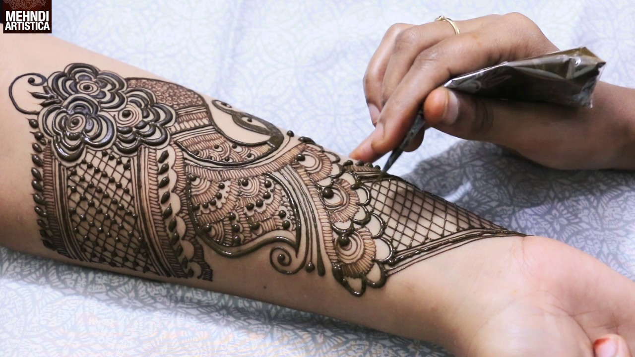 Full Hand Dulhan Mehndi Designs Indo Arabic Full Hand Wrist Palm