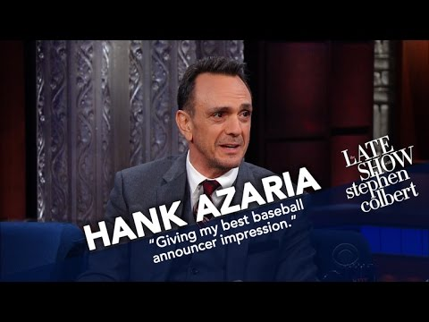 Hank Azaria Teaches Stephen The 'Baseball Announcer' Voice