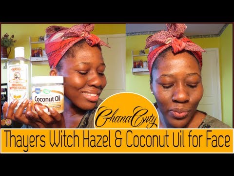 Thayers Witch Hazel & Coconut Oil For Face Tutorial & Review