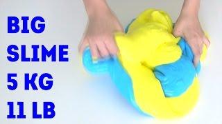 GIANT SLIME 5000 gram (11 LB) How to make DIY