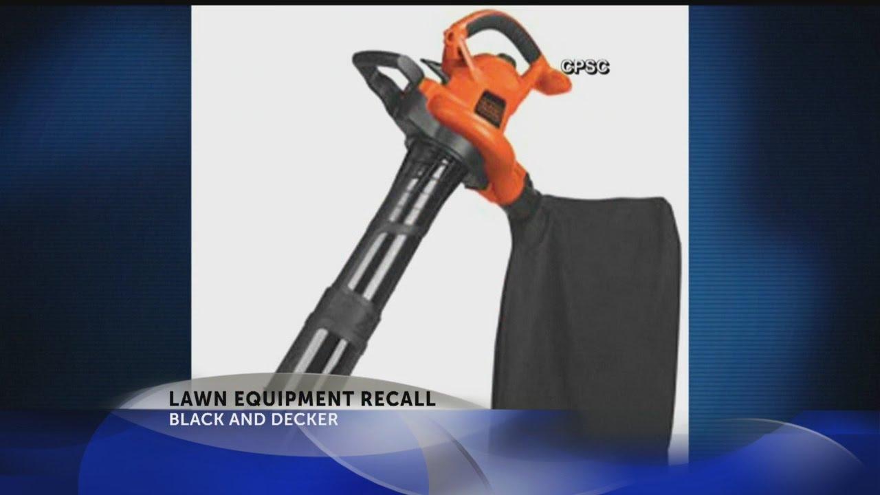 Black Decker Recalls Electric Er Vacuum Mulchers For Hazard