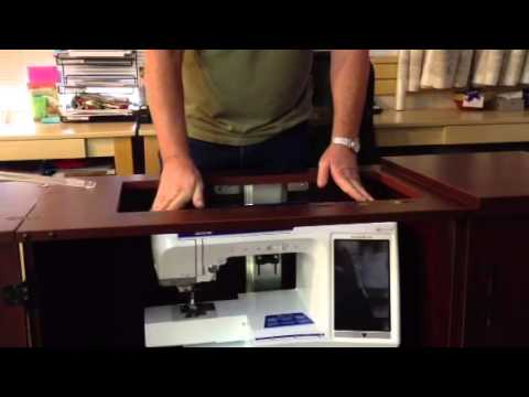 How Hydraulic Lift On Sewing Cabinet Works 1