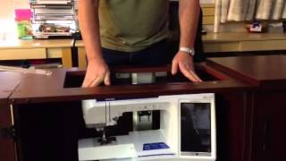How Hydraulic Lift On Sewing Cabinet Works (1)