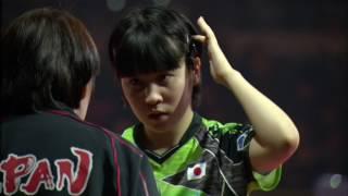 韓国オープン2017女子シングルス準々決勝 平野美宇vsツォン・ジエン (シンガポール)第5ゲーム