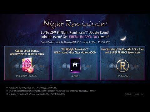 Superstar SMTown - Event #8 - Luna's Night Reminiscin' & TVXQ's ticket (04/24 ~ 05/01)