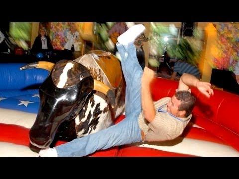 Mechanical Bull Riding Fails