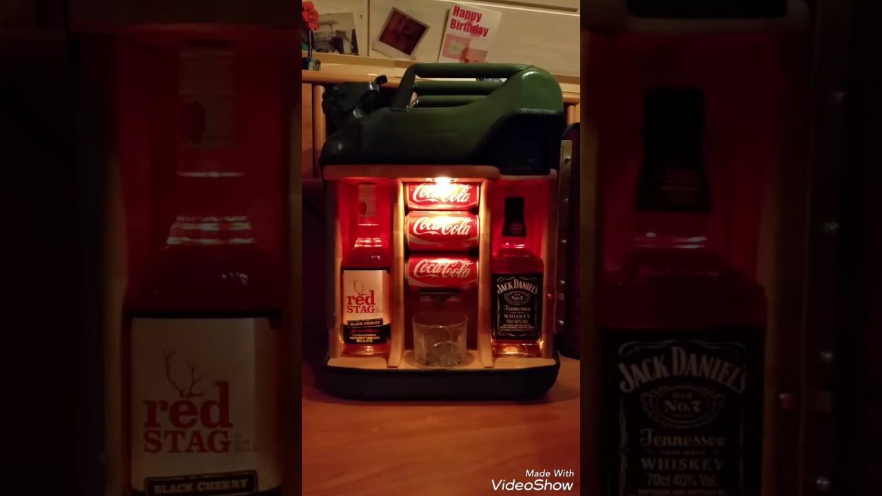 Selbstgebauter Spirituosen Benzinkanister 20l Jim Beam Jack