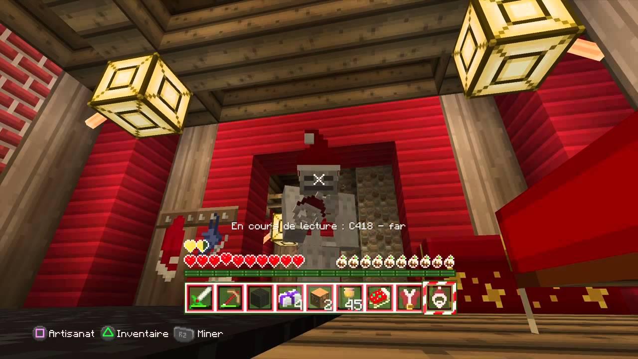 Minecraft noel objectif ep2 dans la maison du pere noel - Maison du pere noel ...