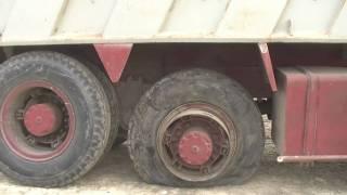 Transload Yard - Flat Tire on Dump Truck 02.MTS