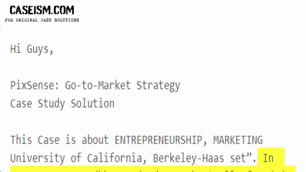 pixsense go to market strategy case study help caseism com youtube