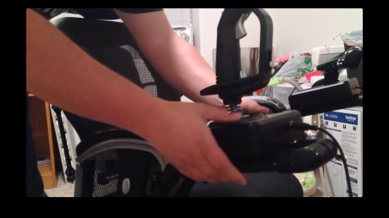 office chair joystick mount peacock blue accent cheap diy hotas youtube