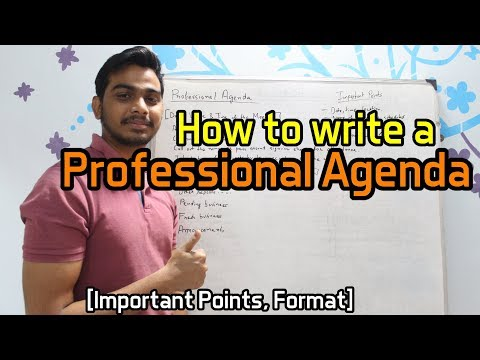 How To Write A Professional Agenda [Important Points, Format]
