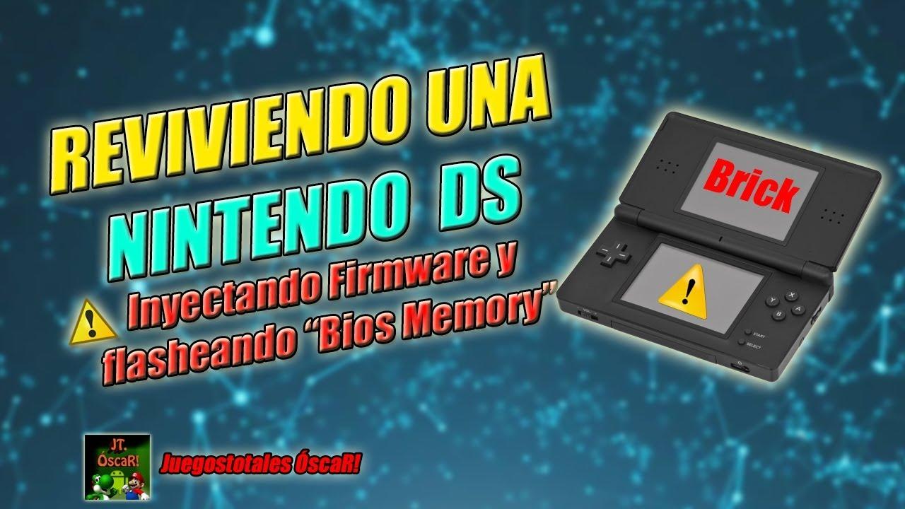 Unbrick Nintendo DS Lite | Inyección de Firmware oficial y flasheo de la  `Bios Memory`