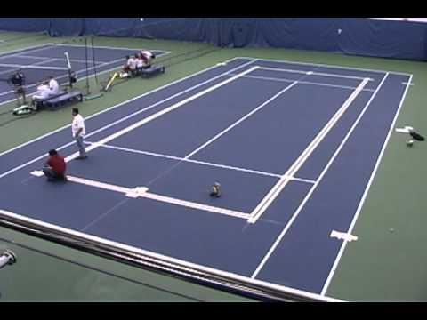 Blended Line Application At USTA Billie Jean King National Tennis Center Indoor Courts