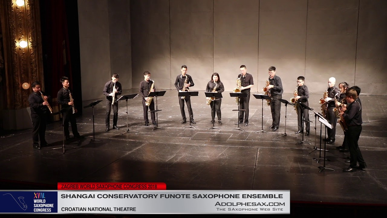 Sacred Moment by Hesheng Wang   Shanghai Conservatory Saxophone Ensemble   XVIII World Sax Congress