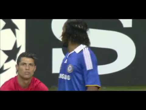 Didier Drogba Vs Cristiano Ronaldo - Funny Foul - United Vs Chelsea