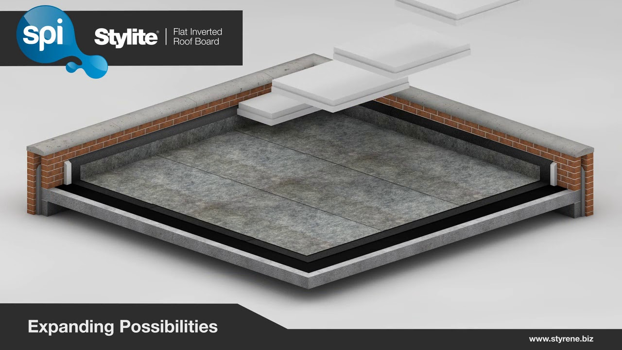 How To Install Stylite Expanded Polystyrene (EPS) Inverted Flat Roof  Insulation Boards.