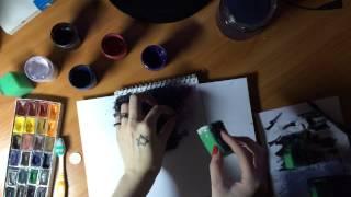 Как рисовать космос гуашью(http://vk.com/fustang - моя группа ВКонтакте., 2015-04-12T13:22:11.000Z)
