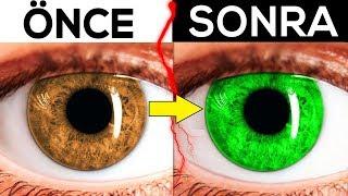 15 Dakikada Göz Renginizi Yeşile Dönüştürün!!! ( %100 GERÇEK )