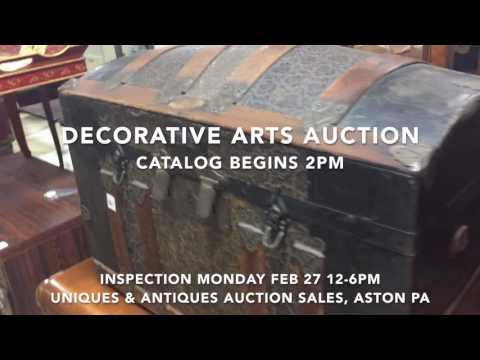 February 28, 2017   Decorative Arts Auction   Furniture