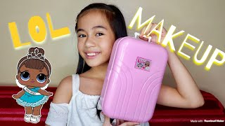 LOL MAKEUP COSMETIC SET with NAIL POLISH and GLITTER LIP GLOSS (MAKEUP FOR KIDS) | YESHA C. 🦄