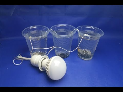 Free energy water coal with LED light bulbs - Experiment  at home