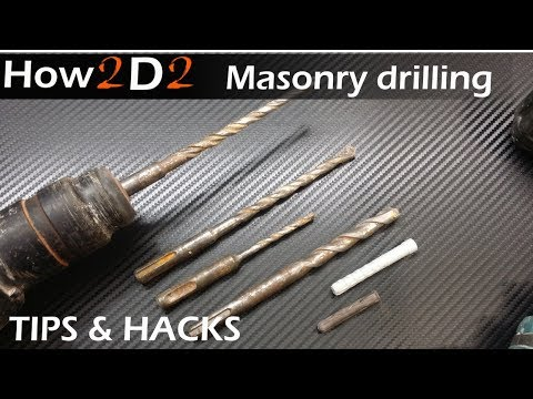 Masonry drilling Tips & Hacks. SDS Drill into bricks wall or concrete video