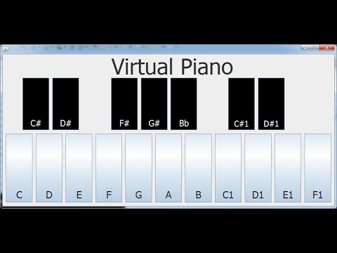 How to Create  Virtual Piano with Java in Eclipse