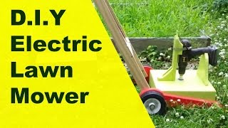 Diy project - Drill powered electric lawn mower.