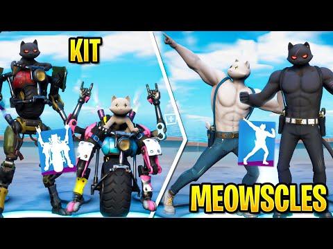 Fortnite KIT VS MEOWSCLES: Dance Battle! (Chapter 2 Season 3)
