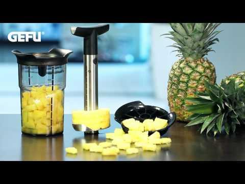 Ananasschneider PROFESSIONAL PLUS, inkl. Stückchenschneider und Aufbewahrungsbehälter