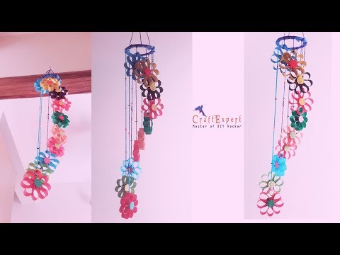 DIY Paper Wind Chimes Craft-How to Make Wind Chimes out of Paper-Room Decor Ideas | DIY Paper Crafts