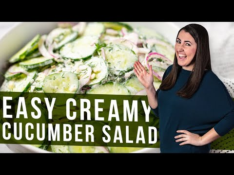 How to Make Creamy Cucumber Salad