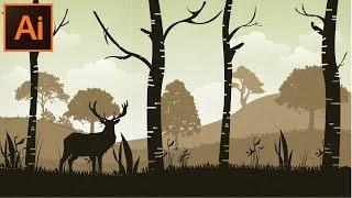 Adobe Illustrator CC Öğretici bir Orman arka Plan Yapmak için Nasıl yeni Başlayanlar için