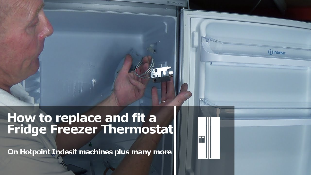 maxresdefault how to replace a fridge freezer thermostat hotpoint indesit youtube hotpoint fridge thermostat wiring diagram at edmiracle.co