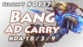 SKT T1 Bang - Ezreal vs Ashe - KR LOL Solo Rank | 뱅 이즈리얼