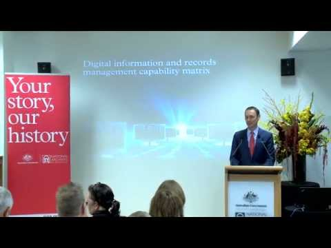 Launch of the Digital Information and Records Management Capability Matrix
