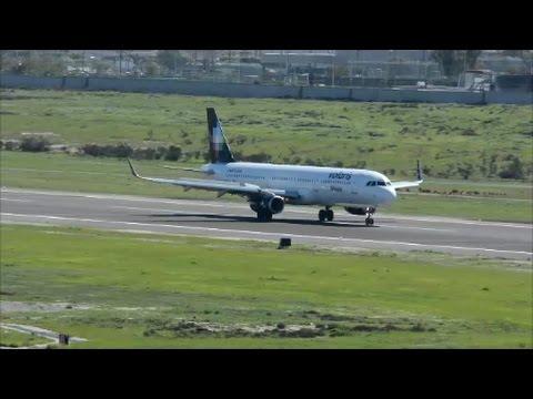 ****A 321 ****  VOLARIS  landing at Tijuana Mexico, next to the borderline