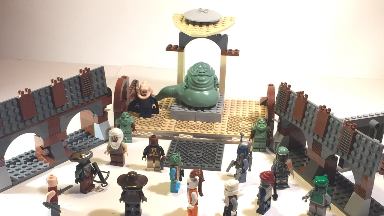 Lego Star Wars Jabbas Palace Moc Based Off Of Jabbas Sail Barge