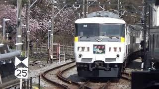JR東日本185系宮オオOM09編成踊り子109号伊豆高原到着
