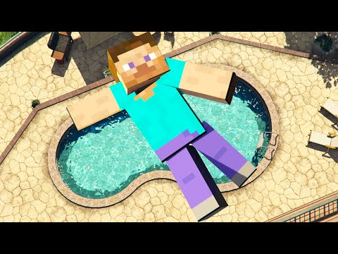 Steve Minecraft GTA 5 Parkour Fails Crazy Jumps and Ragdolls ep.38