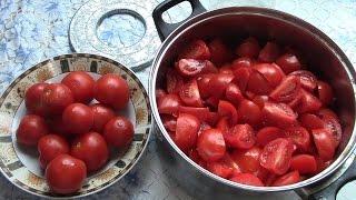 Томатный сок и заправка для борща из помидоров