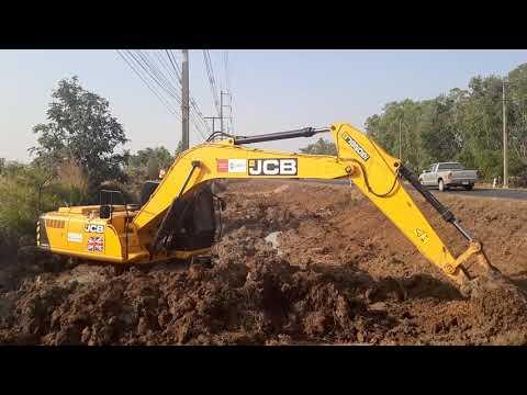 งานนี้เล่นโคลนครับ JCB JS205sc รถขุดสายพันธุ์อังกฤษ excavator EP.7968