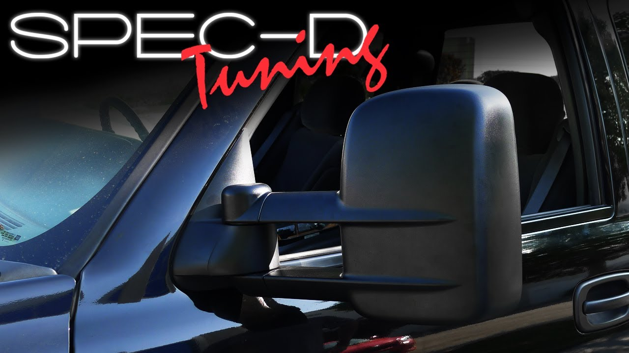 SPECDTUNING INSTALLATION VIDEO: 20032006 CHEVY SILVERADO EXTENDABLE MIRRORS  YouTube