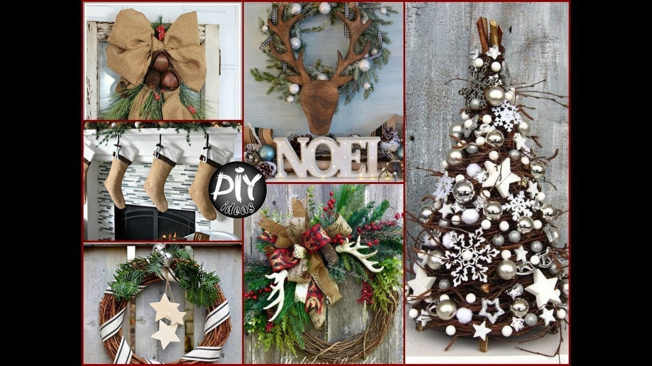 christmas home decoration 2017 top 15 rustic christmas tree creative ideas 2017 home 10591