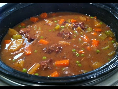 Easy Slow Cooker Beef Stew | One Pot Chef
