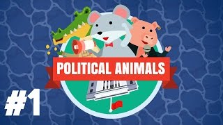 Political Animals Gameplay PC - PART #1 - Election Simulator Let