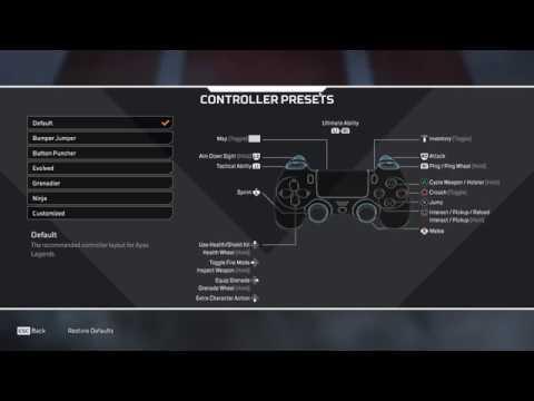 Best controller options apex legends