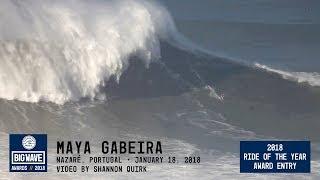 Maya Gabeira at Nazaré  - 2018 Ride of the Year Award Entry - WSL Big Wave Awards