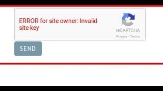 Error Site key Recaptcha Fix SMM Panel By BoostInfinite.com